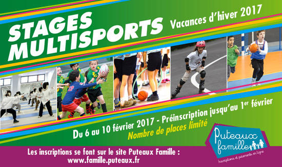Stages multisports hiver 2017