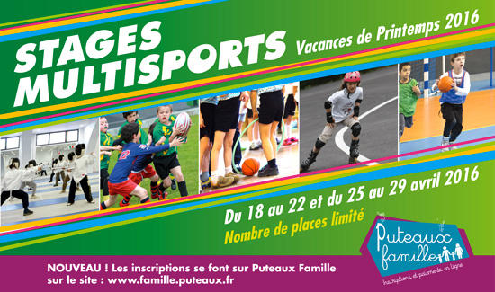 Stages multisports Printemps 2016