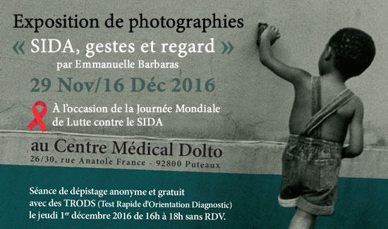 Expo photos «SIDA, gestes et regard»