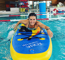 Aqua Stand up paddle avec Julie Ferrez