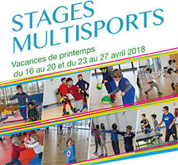 Stages multisports Printemps 2018