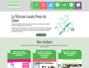 Site Internet Mission locale Rives de Seine